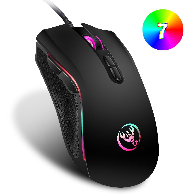 662.41руб. 20% СКИДКА|Игровая мышь 3200 точек/дюйм 7 кнопок RGB подсветка оптическая высокоточная мышь проводная мышь с пожарной клавишей для PC Gamer FPS Gamer|Мыши| |  - AliExpress