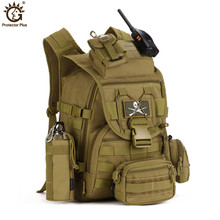40L Military Tactical Assault Pack Backpack Army Molle Waterproof Bag Out Bag Rucksack for Outdoor Hiking Camping Hunting цена