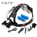 3 LED Headlight Bike lights 9000 Lumens XM-L T6 Head Lamp High Power LED Headlamp +2*18650 Battery +Charger+Car Charger+Bike cli