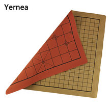 Yernea venda quente de alta qualidade chessboard nova dupla face xadrez chinês placa de xadrez ir jogo conjunto de acessórios de xadrez