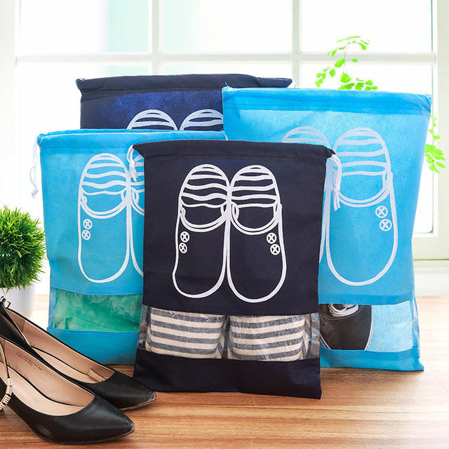 Colorful Travel Drawstring Shoes Bag
