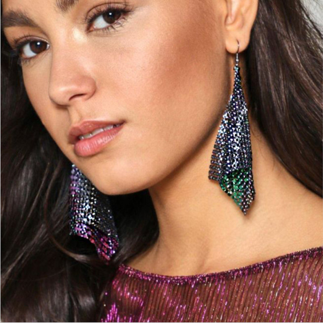 Ppg Pgg Drop Earrings Rhinestones Arrival Fashion Statement For Women Long Earring Large Vintage Bohemian