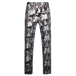 ¡Novedad de 2019! Pantalones clásicos de vestir para hombre, talla asiática S, M, L, XL, 4XL, 5XL, traje de alta calidad para hombre, pantalones plateados de diseño delgado para hombre