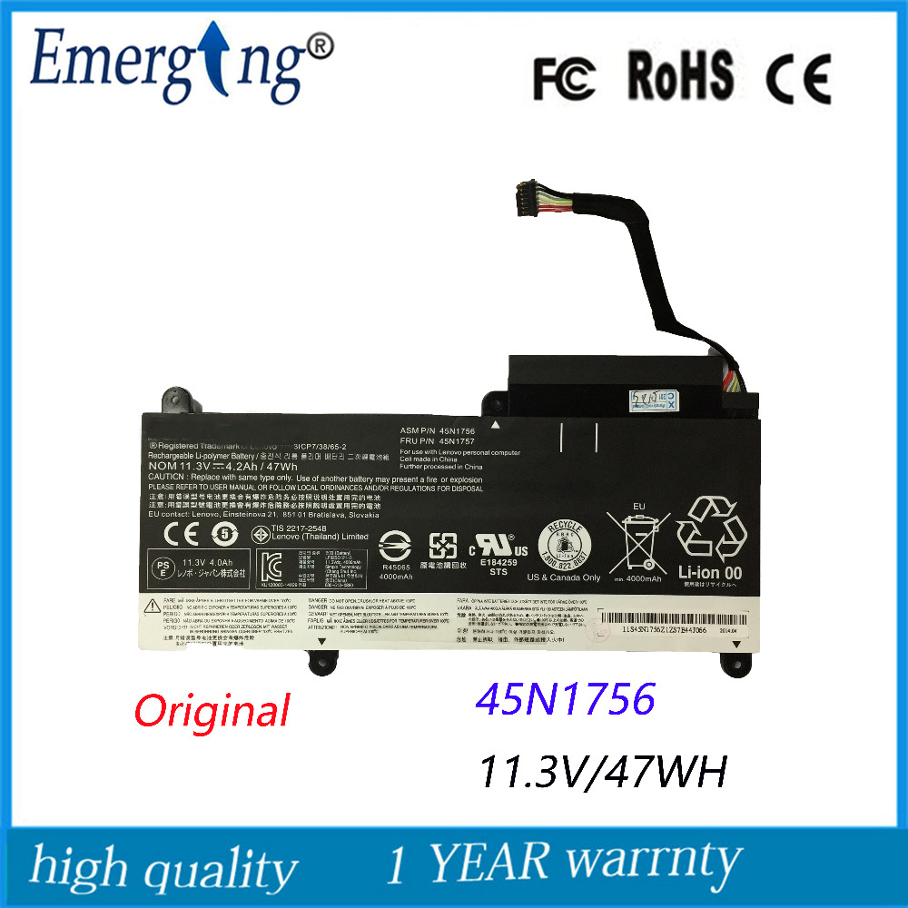 11.3V 47WH New Original Laptop Battery for Lenovo 45N1754 45N1755 45N1756 45N1757 E450 E455 E450C series 11 3v 47wh new original laptop battery for lenovo 45n1754 45n1755 45n1756 45n1757 e450 e455 e450c series