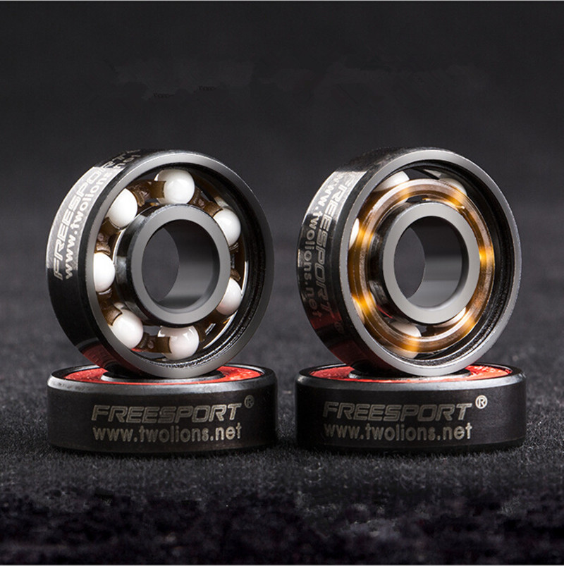 8 Pcs 608RS Ceramic Speed Wheels Bearing For Finger Spinner Skateboard Skate Roller