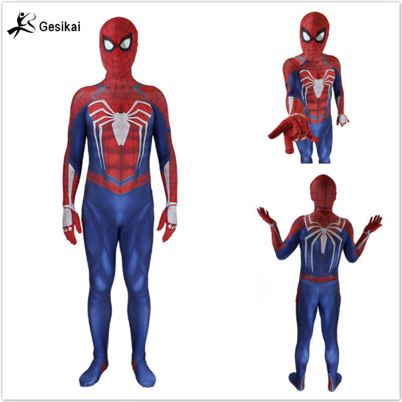 24 Hrs Shipping Out Mens Amazing Spider man Movie Classic Costume Spandex Lycra Zentai Suit Bodysuit