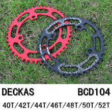 DECKAS Bicycle Chainwheel BCD 104mm 40/42/44/46/48/50/52T MTB Mountain Bicycle Chainwheel Bike Crankset Aluminum Chainring цена