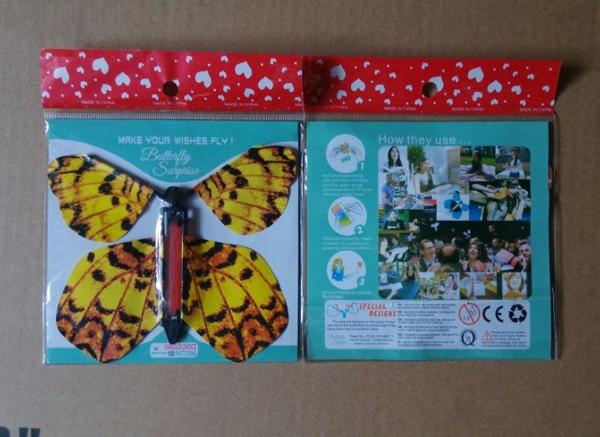 Sihirli kelebek, kağıt kelebek uçabilir, gerçekçi uçan kelebek - Tatiller ve Partiler Için - Fotoğraf 4