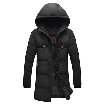 Plus size L - 8XL long style hooded down jacket men thickening warm winter white duck down coats outerwear 2019 autumn winter