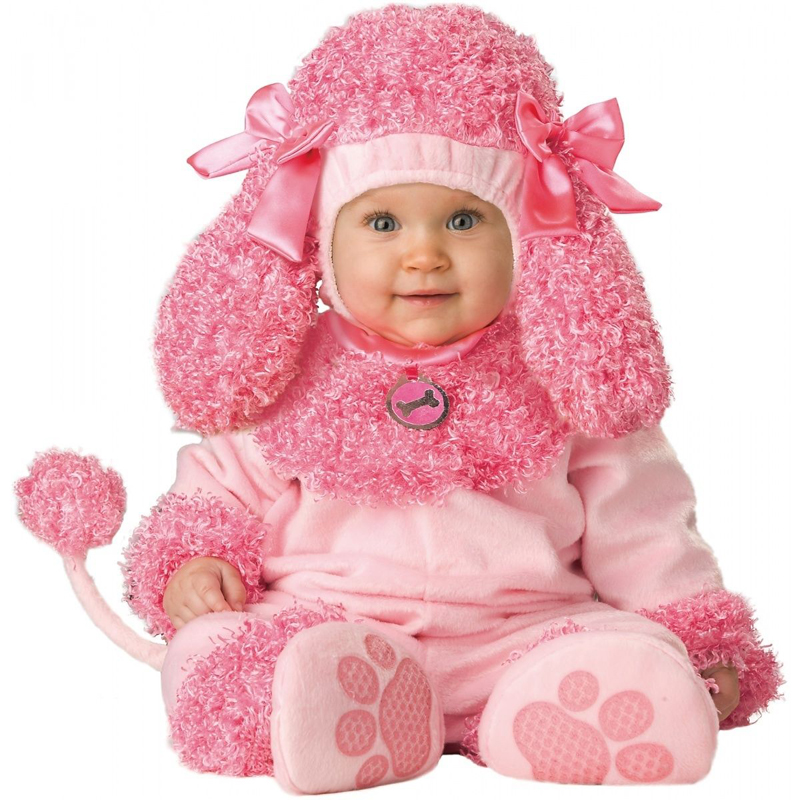 Precious Pink Poodle Baby Costume Toddler Puppy Dog Halloween Fancy-Dress