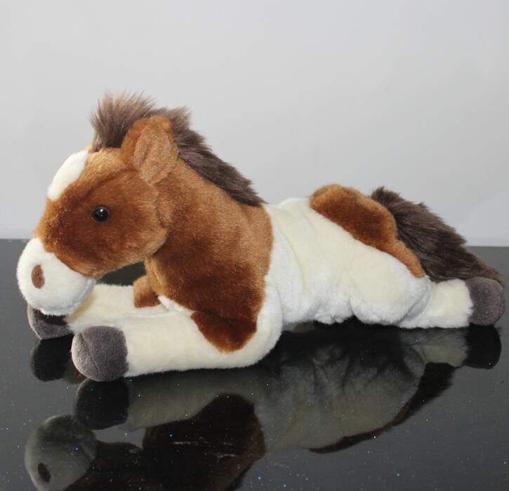 Stuffed Animals Pony Zebra Doll  Plush Simulation  Horse Toy  Children Gifts Toys Home Decoration simulation children s toy plush animals stuffed toys doll hamster dolls kawaii gifts guinea pig