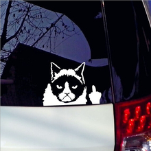 New 11 16cm 2017 Car Stickers Grumpy Cat Angry Cat Fashion Cars Motorcycle Decal Styling Accessories