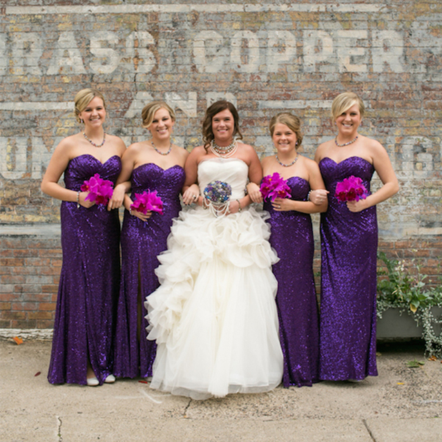 Formal Long Bridesmaid Dress Sequined Purple Bridesmaid Dress With High  Slit Beautiful Bridesmaid Dress For Wedding BD25 0de56ebe0dd5