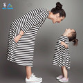 Girls dresses 2016New spring&autumn casual style Asymmetrical striped princess dress The party for children clothes