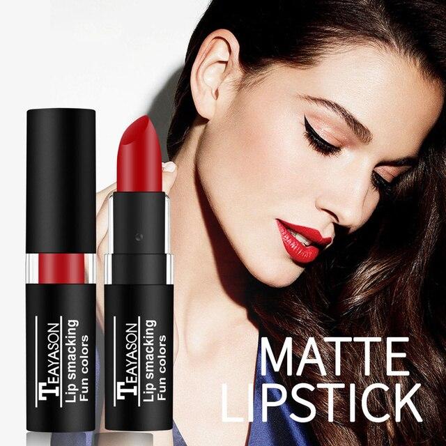 TEAYASON 12 Color Nude Matte Liquid Lipstick Moisturizer Lip Gloss Easy To Wear Makeup Lip Balm Batom Cosmetic TSLM1 3