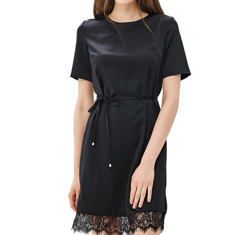 Dresses MODIS M181W00742 women dress cotton  clothes apparel casual for female TmallFS alluring scoop neck ruched asymmetrical backless women s dress