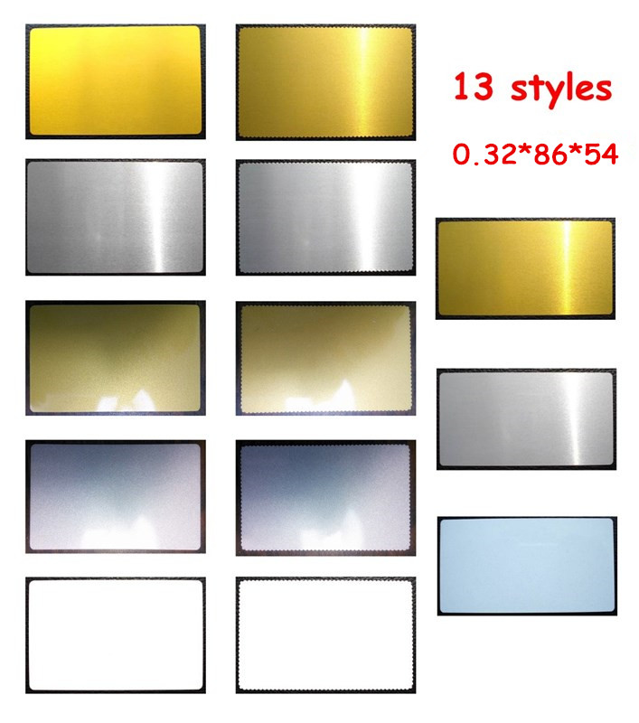 0 32mm 100pcs Blank Sublimation Metal Name Card Printing Blank Business Card Sublimation Ink Transfer