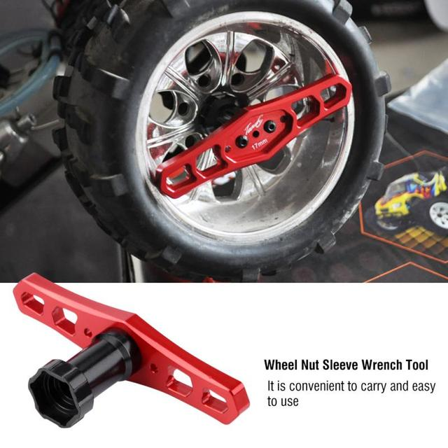 Hot Koop 17mm Wiel Moer Mouw Moersleutel Metal Tool Voor Afstandsbediening Auto Hoge Kwaliteit Onderdelen RC Auto accessoires