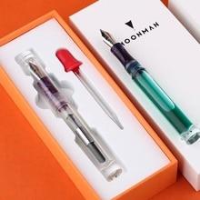 Moonman C1 PMMA โปร่งใสอะคริลิคใส Fountain PEN F Nib Grip สีสุ่มเครื่องเขียนอุปกรณ์สำนักงานโรงเรียน