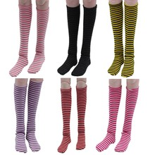 Doll Dress Accessories Striped Stockings Sock Kids Long Socks Dolls Toys Suitable 1/3 BJD Clothes Accessories DIY Toys For Kids(China)