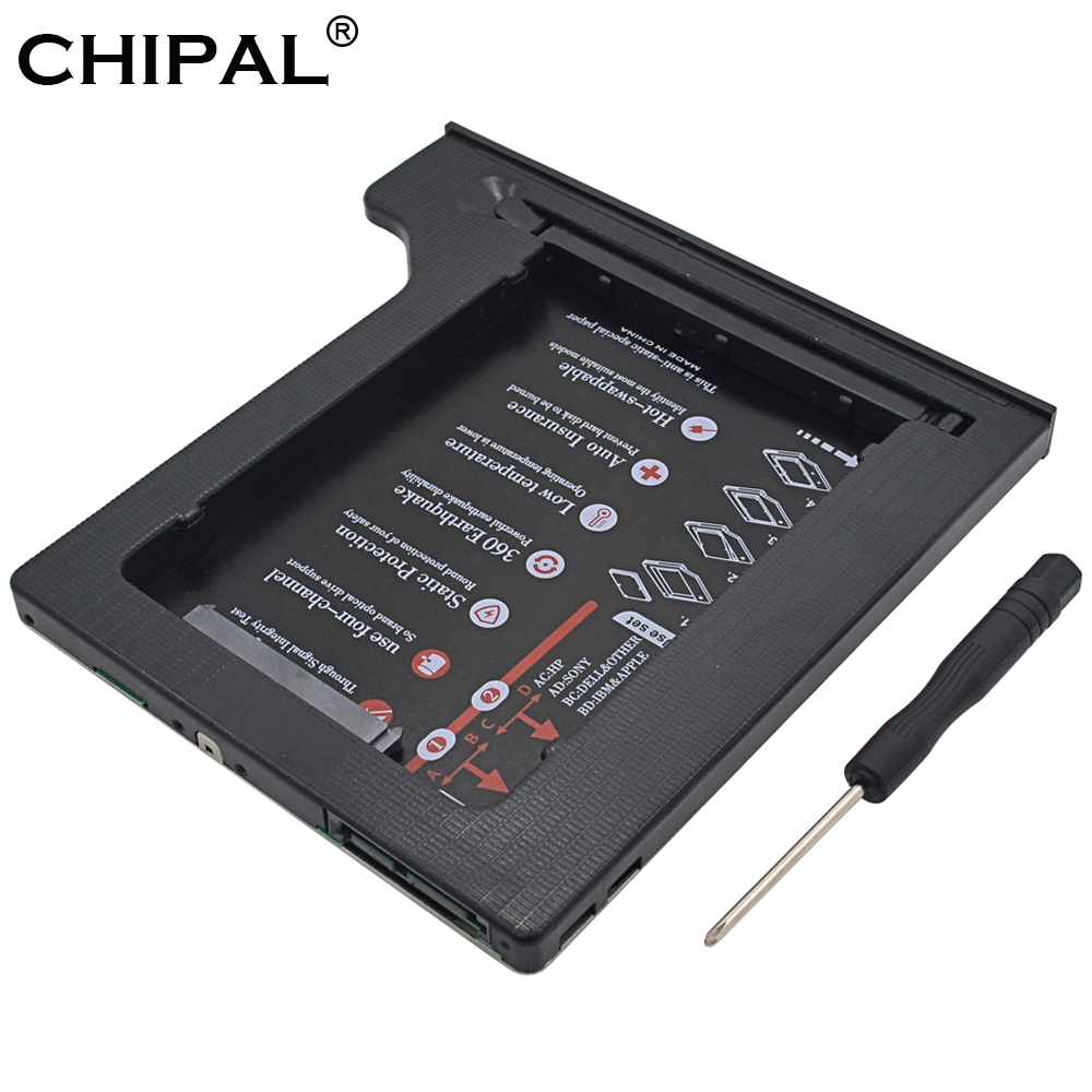 """Chipal 4 Kanäle Universal Aluminium 2nd Hdd Caddy 9,5mm Sata 3,0 Dual Led Für 2,5 """"ssd Festplatte Fall Gehäuse Laptop Dvd-rom Hell Und Durchscheinend Im Aussehen"""