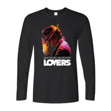Michael Jackson Logo Art 2016 Fashion Casual Hip-Hop Rock Street Long sleeve T shirt Men Brand Cotton Tops Men T-shirt