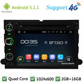 Quad Core 1024*600 Android 5.1.1 Dvd-плеер Автомобиля Радио GPS Для Ford F150 F250 Mustang Explorer Пограничном Экспедиции побег Freestyle