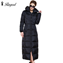 RUGOD 2017 New Fashion Solid Winter Extra Long Women'S Winter Coat Women's Thickening Warm Female Coat  Plus Size Outerwear