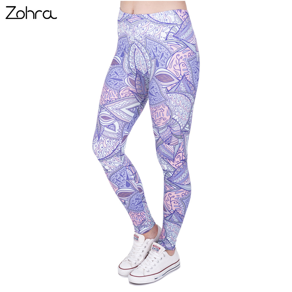 Zohra New Spring Woman Legins Aztec Jungle 3D Printing Casual Women Legging High Waist Leggings