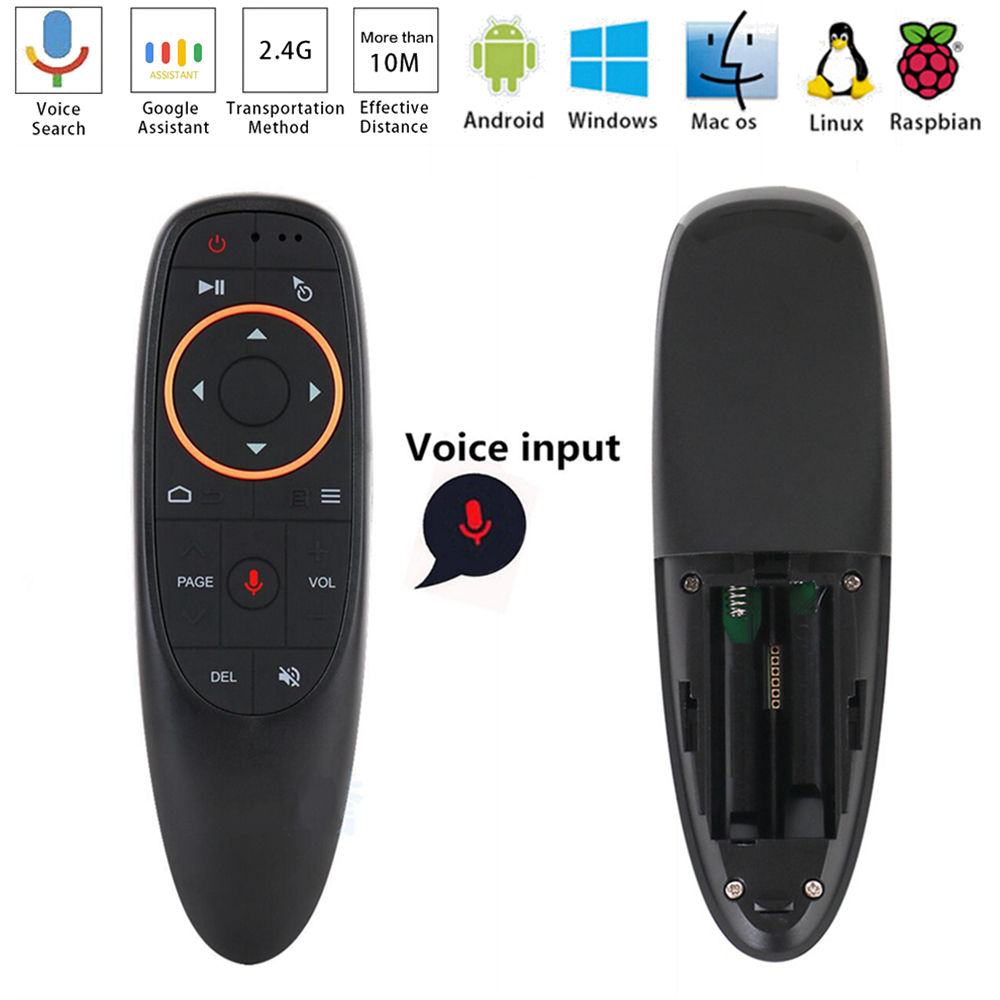 2 4Ghz G10 Voice Air Mouse Wireless Google Microphone Remote Controller 6 Axis Gyroscope Controll for