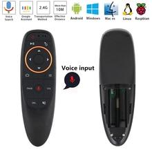 2,4 ГГц G10 Голос Air Мышь Беспроводной Google микрофон Пульт дистанционного управления 6 оси гироскоп управления для Android ТВ Box Smart ТВ PC