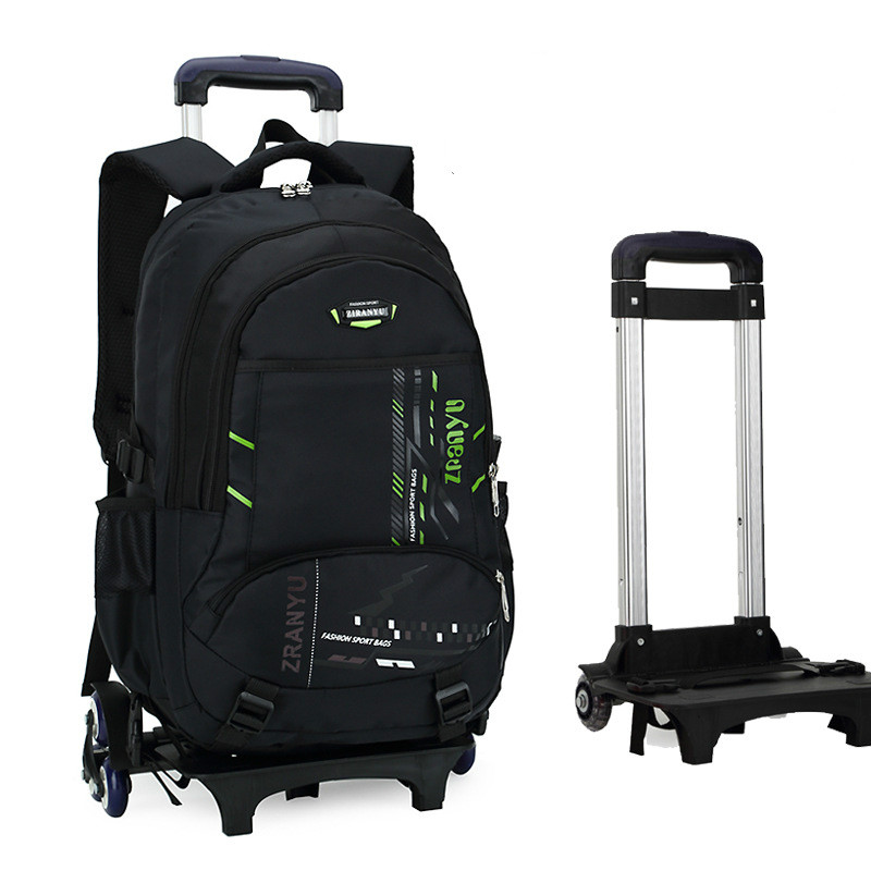 Latest Removable Children School Bags With Wheels Stairs Kids Big boy Trolley Schoolbag Luggage Book Bags Wheeled Backpack latest removable children school bags with 3 wheels stairs kids boys girls trolley schoolbag luggage book bags wheeled backpack