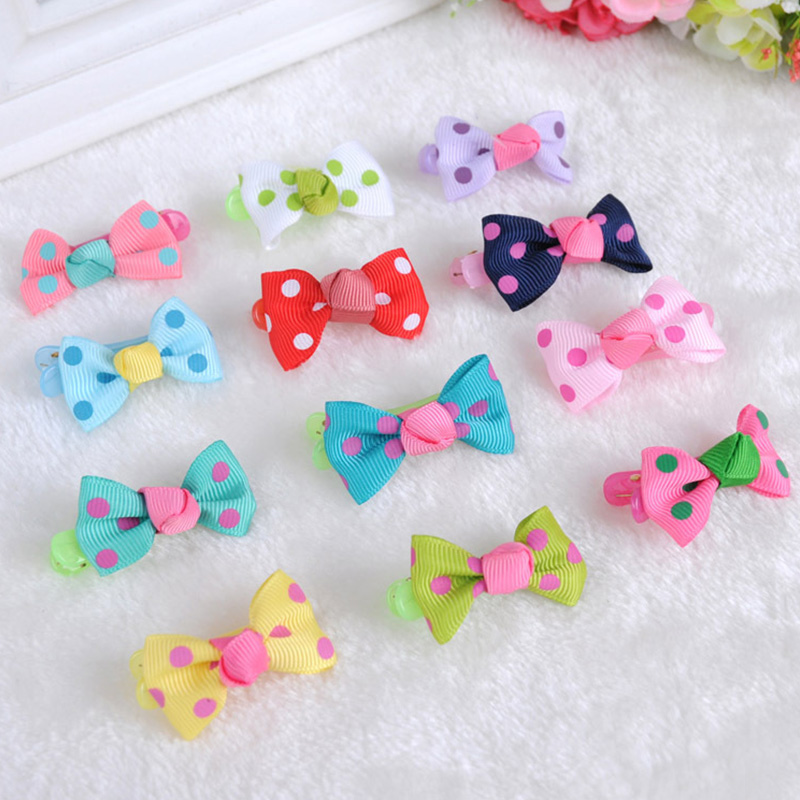 10pcs/lot Lovely Children's Dot Hairpins candy color cute hair accessories kids sweet hairgrips barrettes Christmas gift  #JH117 new 2pcs lot 1 pair girls women lovely cute golden alloy hair barrettes hairpins hair accessories