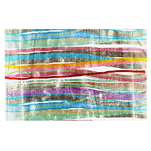 Kess InHouse Frederic Levy-Hadida Fancy Stripes Light Decorative Doormat, 24 by 36-Inch