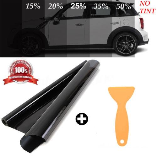 50 см x 1 м Черная Стеклянная Тонирующая пленка для окон VLT 15%-50% автомобильная домашняя пленка для автомобиля Солнцезащитная пленка для окон З...