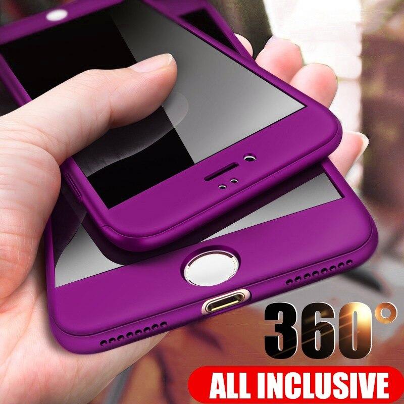ZNP 360 Plein De Protection Cas de Téléphone Pour iPhone 8 7 Plus 6 6 s Cas 5 5S SE X 10 pleine Couverture Pour l'iphone XR Xs Max X Cas Avec Verre