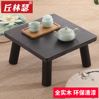 Solid Wood Tatami Tea Table Windowsill Bed Square Table Small Tea Table Kang Several Ancient Chinese Literature Search Table