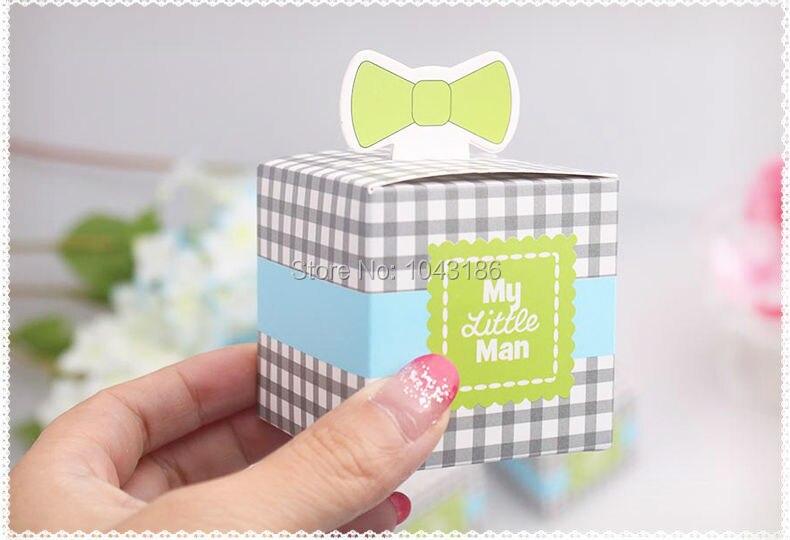 wedding candy box--New Arrival My Little Man Favor Box wedding favor box baby shower party favor chocolate box 50pcs/lot
