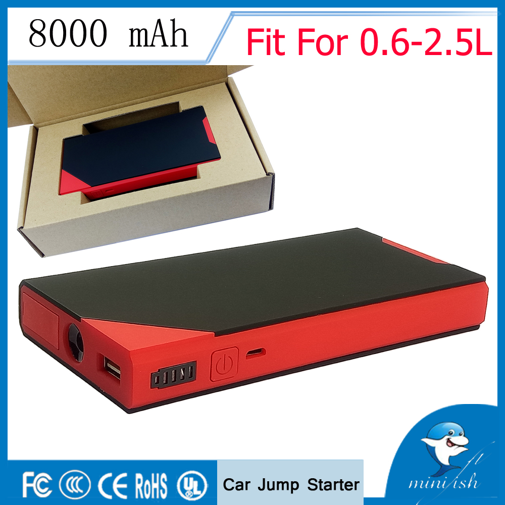 Hot Selling Mini Portable Car Jump Starter 12V Ekstern Batterilader Auto Emergency Start Power Bank