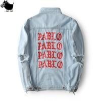 2016 New Pablo Kanye West Denim Jackets Men The Life Of Pablo Kanye Yeezy Denim Jeans