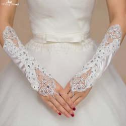 TA133 Applqiue со стразами без пальцев Прихватки для мангала Свадебные Прихватки для мангала