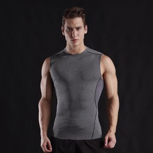 Quickly Dry Men's Running Shirts Compression Gym Tank Top Fitness Sleeveless T-shirts Sport Training  Vest Basketball Jerseys