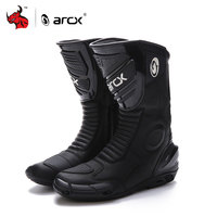 ARCX Motorcycle Boots Genuine Cow Leather Motocross Boots Men Waterproof Moto Boots Motorbike Riding Boots Black Botas Moto #