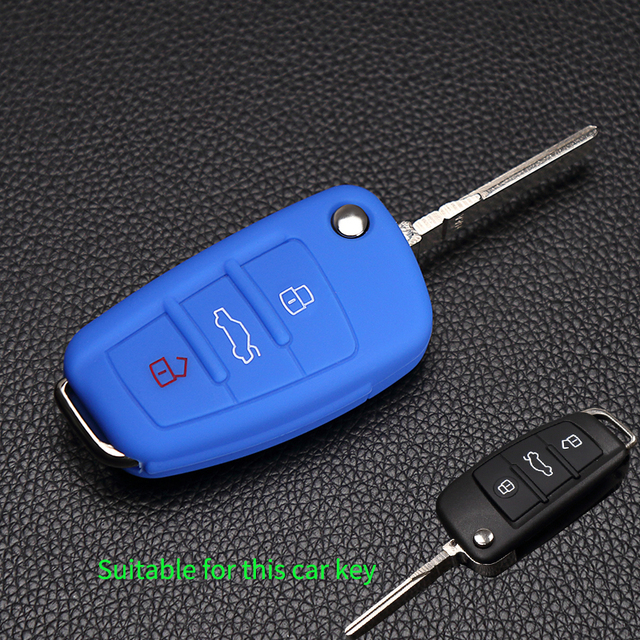 High Quality Foldable Silicone Key Cover Fob Shell Holder For Audi A1 A2 A3 A4 A5 A6 A7 S7 S6 S8 S8 Q3 Q5 Q7 R8 TT RS5 Protector