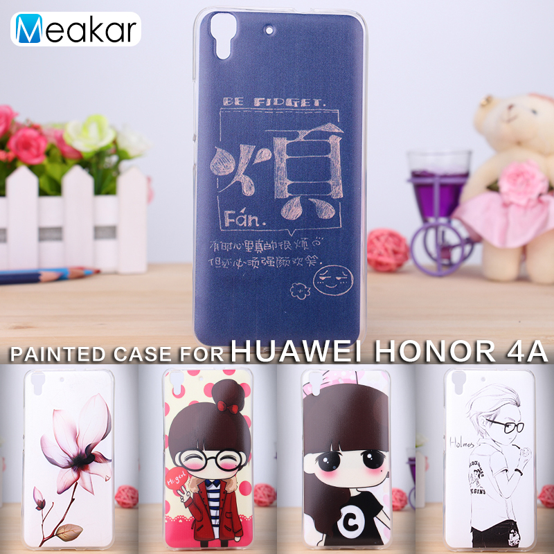 Окрашенные шаблон Мягкий ТПУ кремния 5.0for <font><b>Huawei</b></font> <font><b>Y6</b></font> чехол для <font><b>Huawei</b></font> <font><b>Y6</b></font> Honor 4A сотовый телефон Обложка чехол