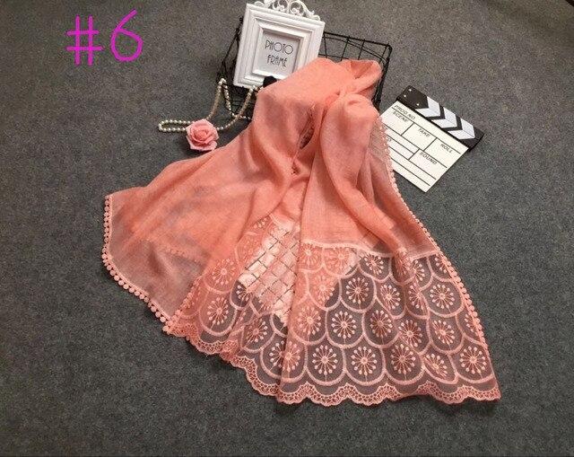 d5ce27337870 Foulards femmes haute couture, Coton broderie dentelle écharpe, tie dye  écharpe, hijab Musulman