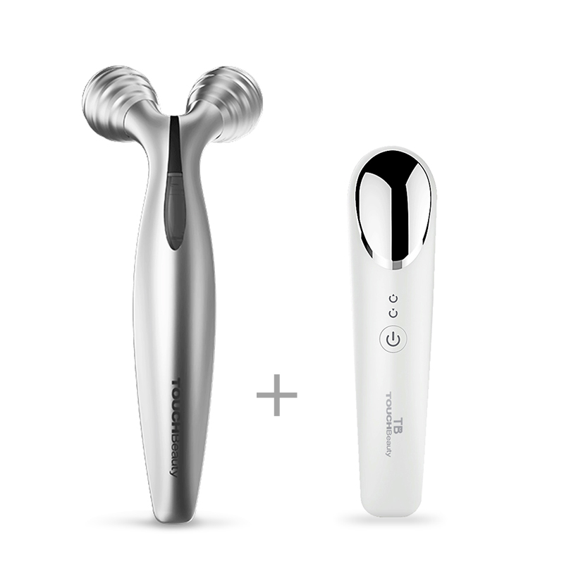 TOUCHBeauty Facial Roller With 70 Degree V-shaped Lifting Device For Facial Toning And Lifting Body Slimming Skin TB-1682 Set
