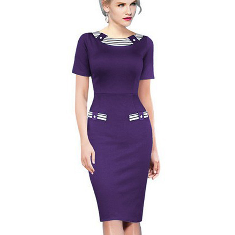 Online Shop 2016 Ladies Chic Navy Style Elegant Formal Office ...