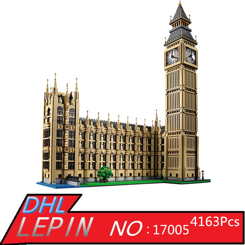 Big Ben Elizabeth Tower Model Building LEPIN 17005 4163Pcs Kits Block Brick Educational Toys for Children Gift Compatible 10253 3d puzzle metal earth laser cut model jigsaws diy gift world s famous building eiffel tower big ben tower of pisa toys