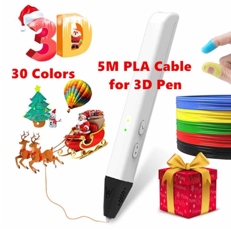 Aokin 5 เมตร PLA 1.75 มม.วัสดุการพิมพ์พลาสติกสำหรับ 3D เครื่องพิมพ์ PEN Filament เติม 3D การวาดภาพ Filament